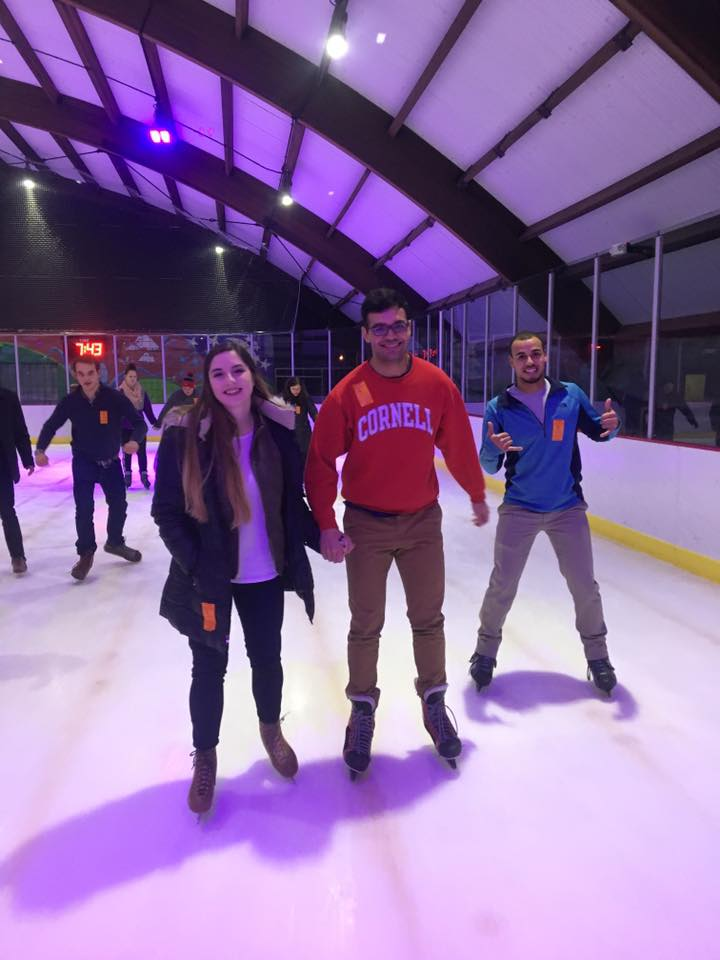 Zetes and dates ice skate